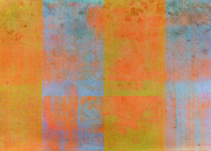 Orange Greeting Card featuring the painting Desert Mirage by Julie Niemela