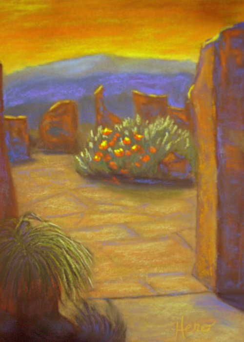 Desert Greeting Card featuring the pastel Desert Rose by Marcia Hero