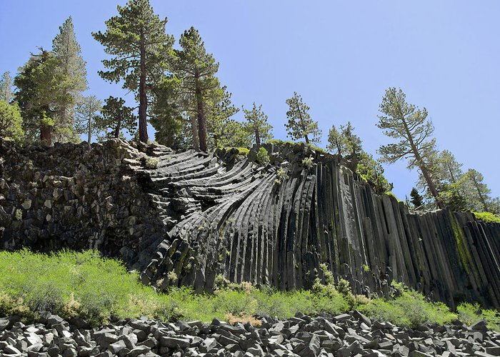 Devils Postpile Greeting Card featuring the photograph Devil's Postpile - Talk About Natural Wonders by Christine Till