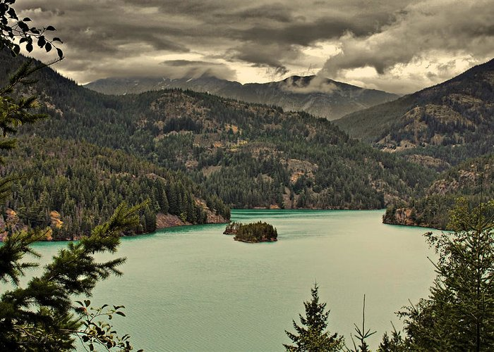 Turquoise Greeting Card featuring the photograph Diablo Lake - Le Grand Seigneur Of North Cascades National Park Wa Usa by Christine Till