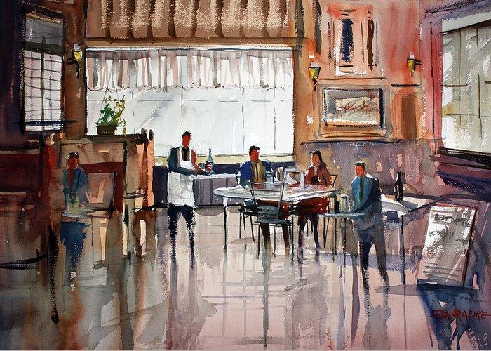 Ryan Radke Greeting Card featuring the painting Dinner For Two by Ryan Radke