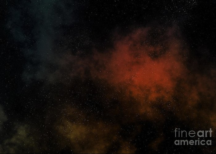 Universe Greeting Card featuring the digital art Distant Nebula by Michal Boubin