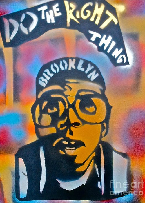 Spike Lee Greeting Card featuring the painting Do The Right Thing by Tony B Conscious
