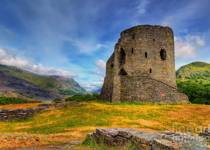 Castle Greeting Card featuring the photograph Dolbadarn Castle by Adrian Evans