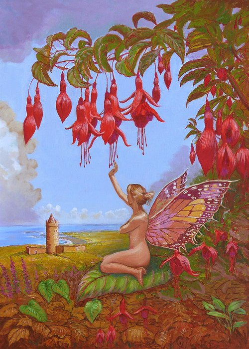 Doolin Greeting Card featuring the painting Doolin Fairy by Tomas OMaoldomhnaigh