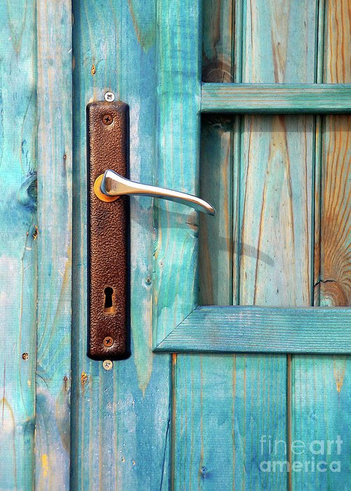 Abandonment Greeting Card featuring the photograph Door Handle by Carlos Caetano