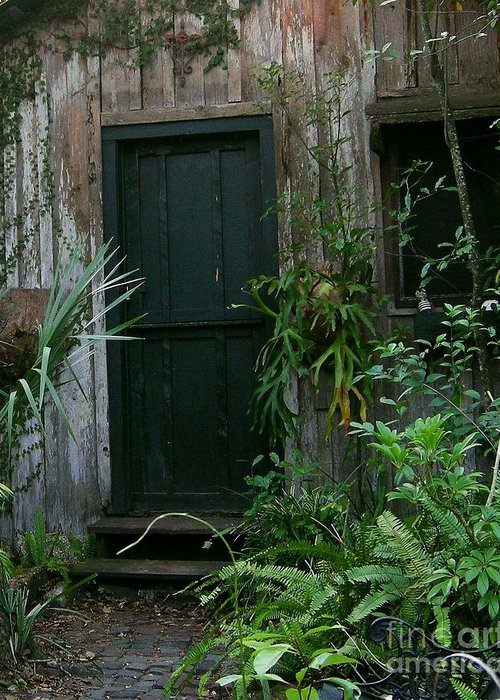 Shed Greeting Card featuring the photograph Door To The Past by Ze DaLuz