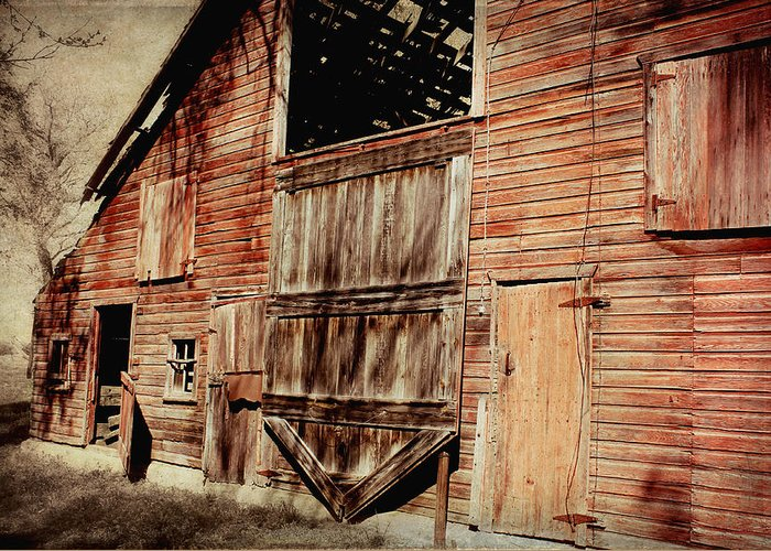 Barn Greeting Card featuring the photograph Doors Open by Julie Hamilton