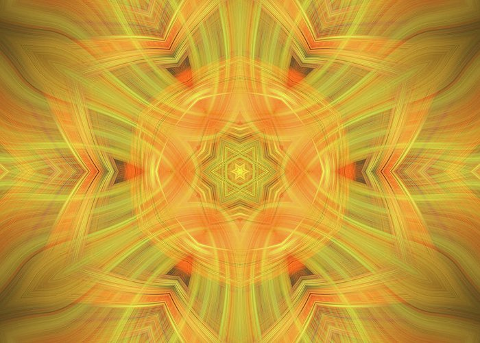 Abstract Greeting Card featuring the photograph Double Star Abstract by Linda Phelps