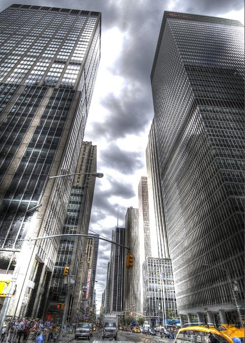 City Greeting Card featuring the photograph Downtown Hdr by Robert Ponzoni