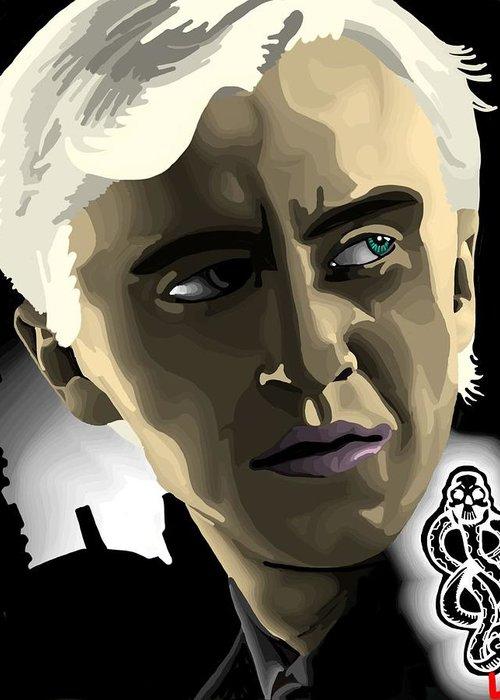 Draco Greeting Card featuring the digital art Draco by Lisa Leeman