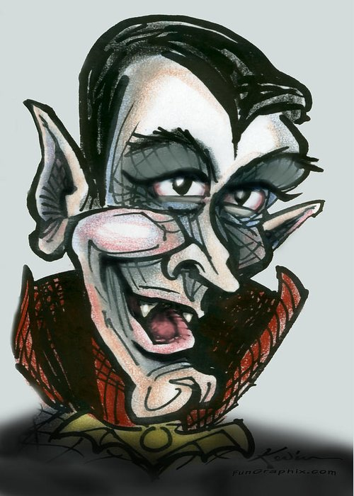 Dracula Greeting Card featuring the greeting card Dracula by Kevin Middleton