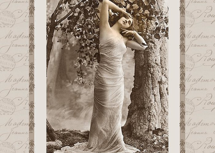 Vintage Greeting Card featuring the photograph Dream Of The Night by Mary Morawska
