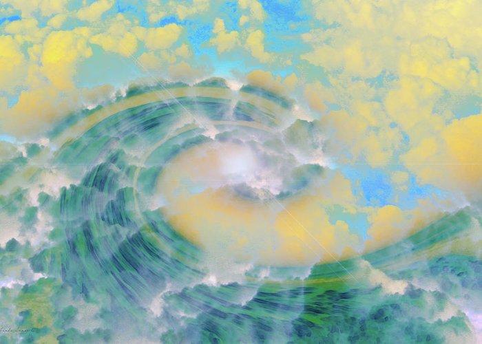 Wave Art Greeting Card featuring the digital art Dream Wave by Linda Sannuti