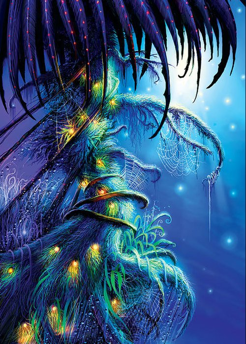 Dreaming Tree Greeting Card featuring the painting Dreaming Tree by Philip Straub