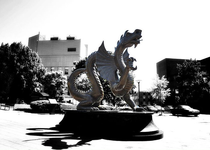 Drexel Dragon Greeting Card featuring the photograph Drexel Dragon by Bill Cannon