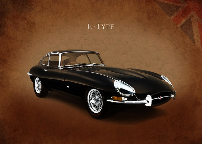 Jaguar Greeting Card featuring the photograph E Type Jaguar by Mark Rogan