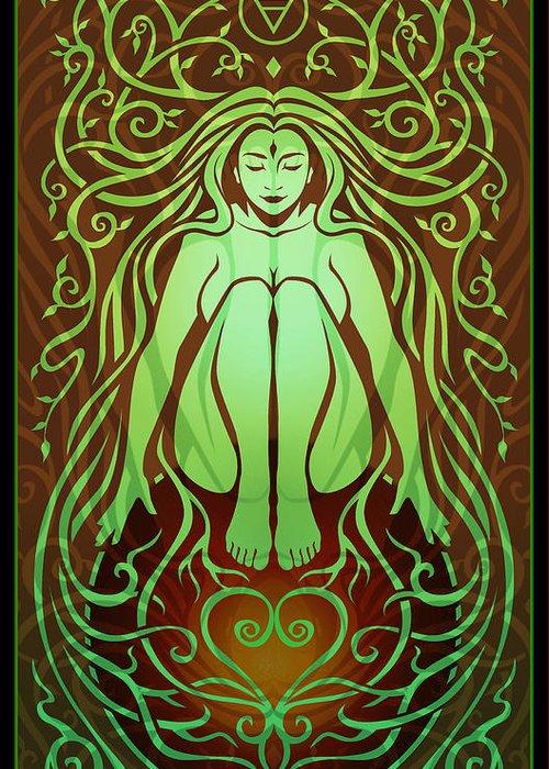 Goddess Greeting Card featuring the digital art Earth Spirit by Cristina McAllister