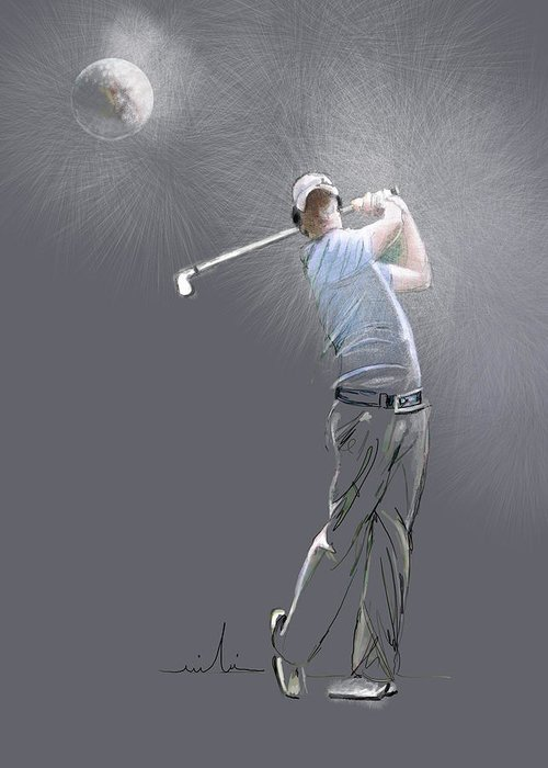 Golf Greeting Card featuring the painting Eclipse by Miki De Goodaboom