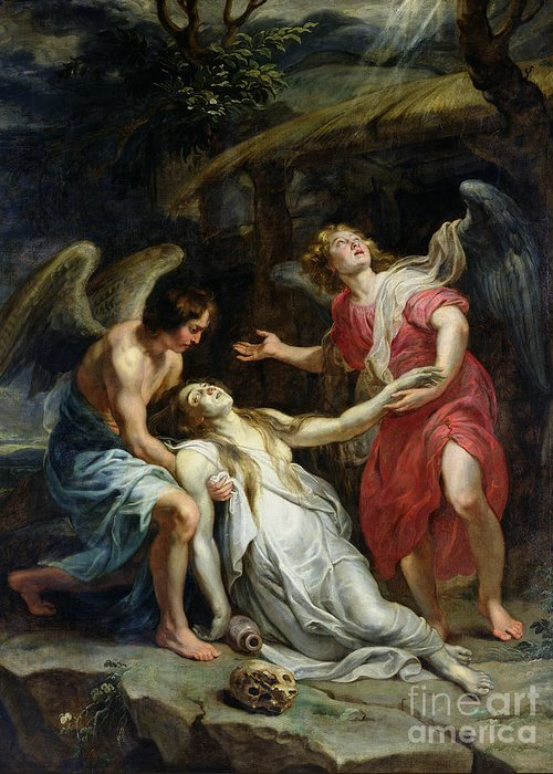 Ecstasy Greeting Card featuring the painting Ecstasy Of Mary Magdalene by Peter Paul Rubens
