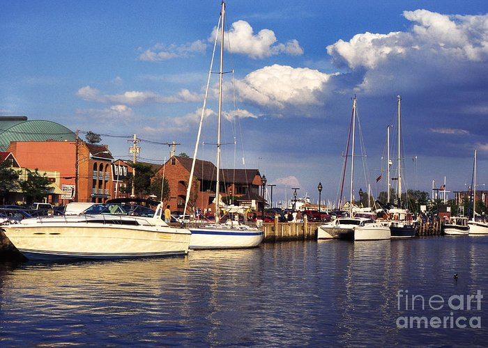 Ego Alley Greeting Card featuring the photograph Ego Alley Annapolis by Thomas R Fletcher