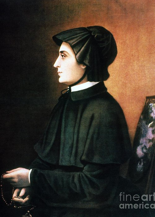 1804 Greeting Card featuring the painting Elizabeth Ann Seton by Granger