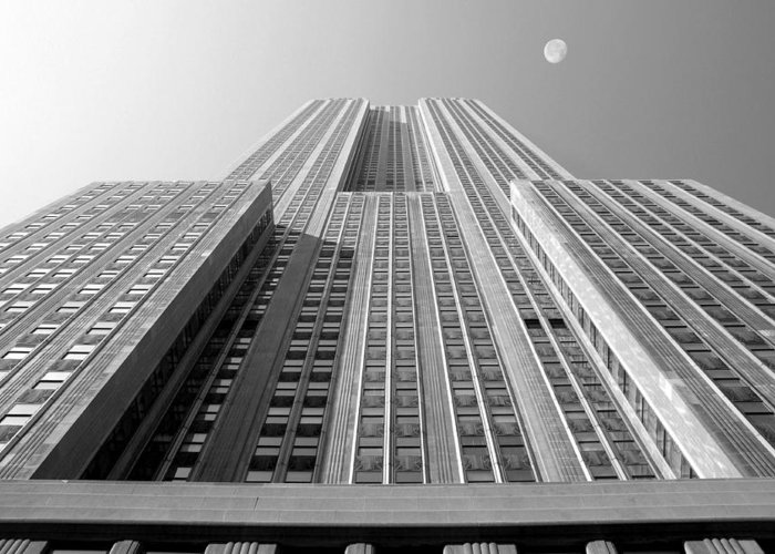 Empire State Building Greeting Card featuring the photograph Empire State Building by Mike McGlothlen