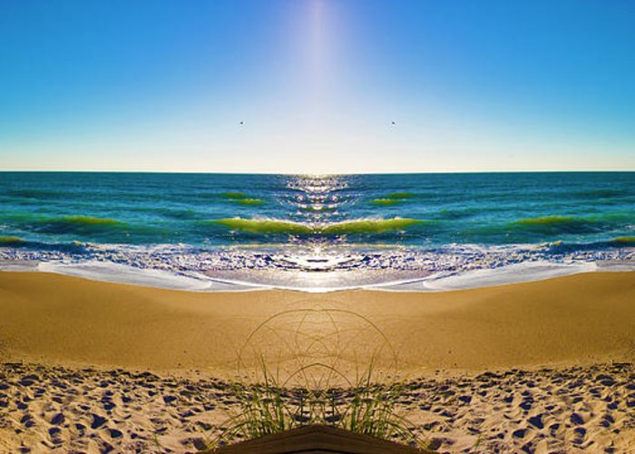 Topsail Island Greeting Card featuring the photograph Enchanted Mirror by Betsy C Knapp