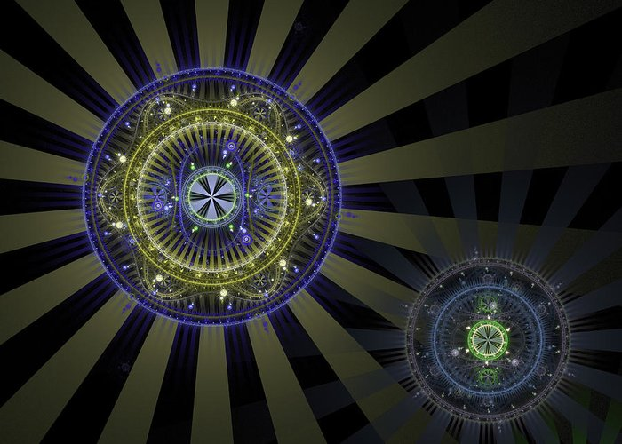 Fractal Greeting Card featuring the digital art Enlightenment by David April