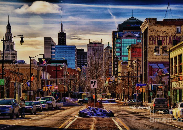 Buffalo Ny Greeting Card featuring the photograph Entertainment by Chuck Alaimo