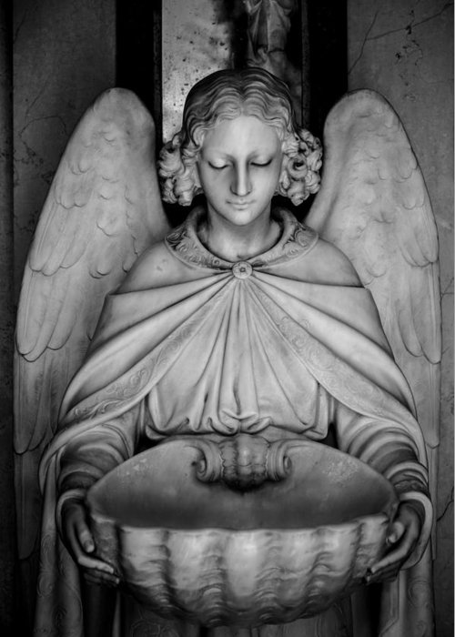 Angel Greeting Card featuring the photograph Entrance Angel by Anthony Citro