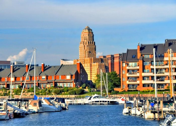 Marina Greeting Card featuring the photograph Erie Basin Marina by Kathleen Struckle