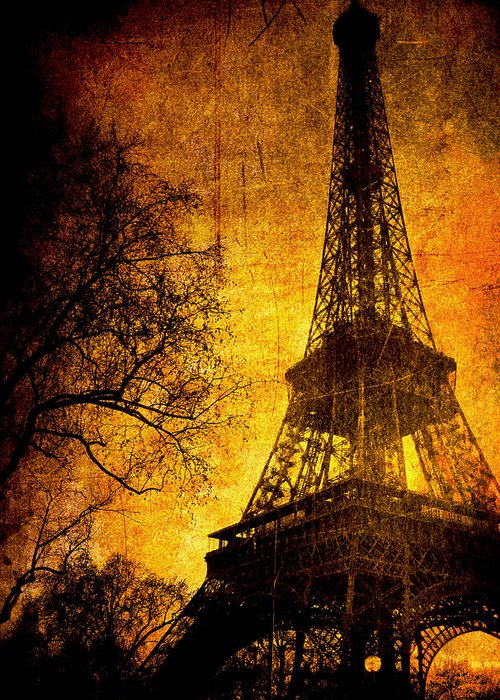 Eiffel Greeting Card featuring the photograph Esthetic Luster by Andrew Paranavitana