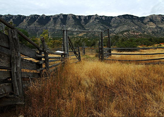 Bighorn Canyon National Recreation Area Greeting Card featuring the photograph Ewing-snell Ranch 1 by Larry Ricker