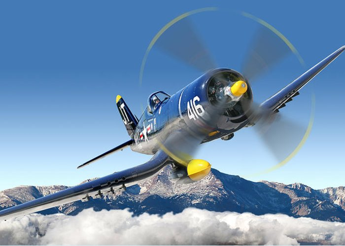 F4-u Corsair Greeting Card featuring the photograph F4-u Corsair by Larry McManus