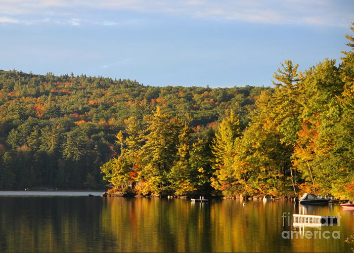 2012 Greeting Card featuring the photograph Fall Reflection by Michael Mooney