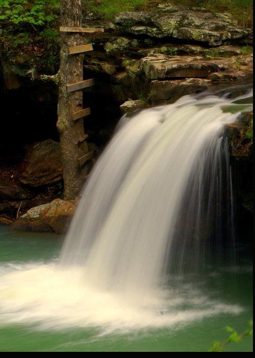 Falling Water Falls Greeting Card featuring the photograph Falling Falls by Marty Koch