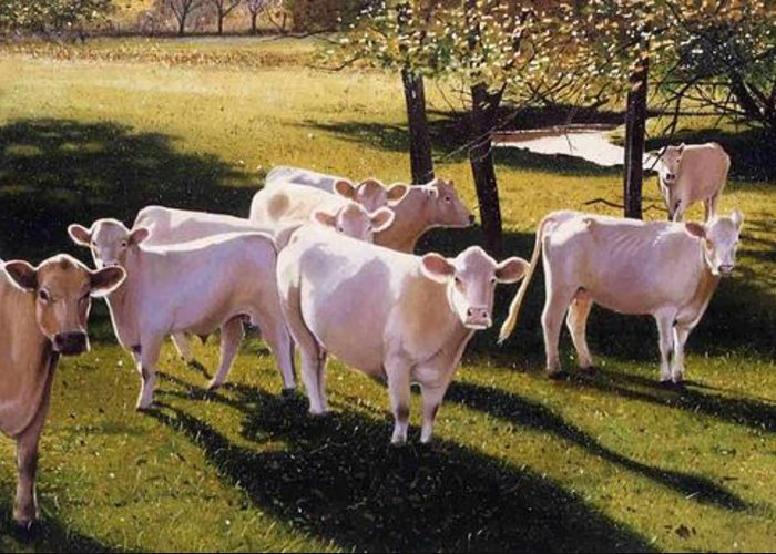 Landscape Greeting Card featuring the painting Family Portrait by Denny Bond