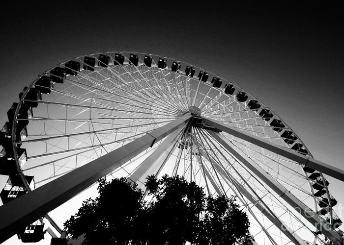 Chicago Greeting Card featuring the photograph Ferris Wheel by Leslie Leda