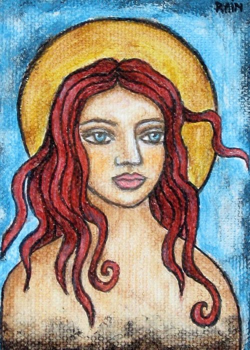 Paintings Greeting Card featuring the painting Fidelia by Rain Ririn