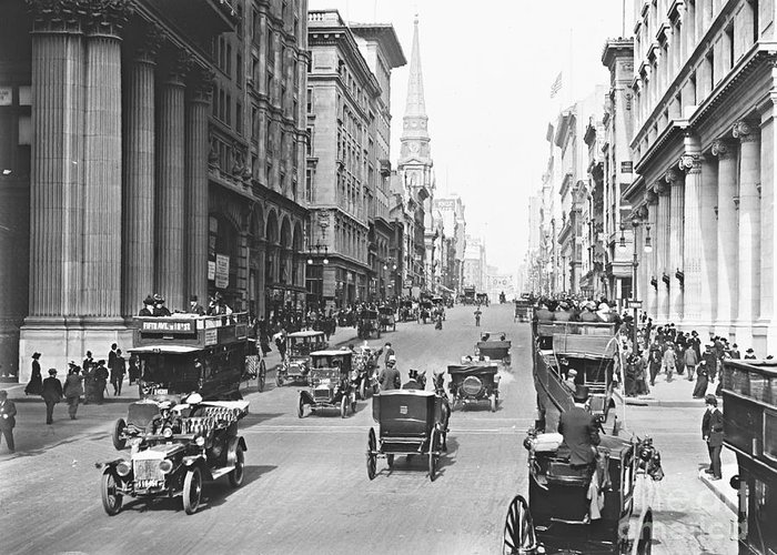Fifth Avenue And East 34th Street New York City 1907 Greeting Card featuring the photograph Fifth Avenue And East 34th Street New York City 1907 by Padre Art