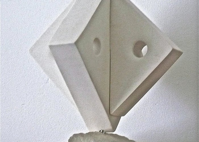 Fifth Greeting Card featuring the sculpture Fifth Chakra Swastika by Frank Pasquill