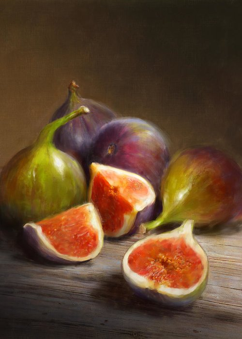 Figs Greeting Card featuring the painting Figs by Robert Papp