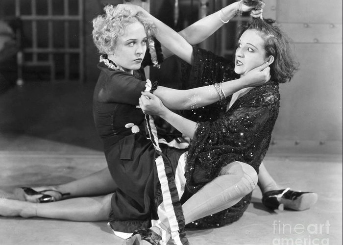 -fights- Greeting Card featuring the photograph Film Still: Chicago, 1927 by Granger