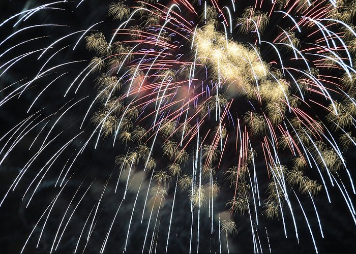 Fireworks Greeting Card featuring the photograph Finale by Eric Miller