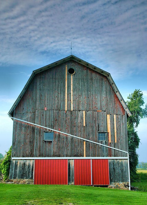 Architecture Greeting Card featuring the photograph Finger Lakes Barn Iv by Steven Ainsworth
