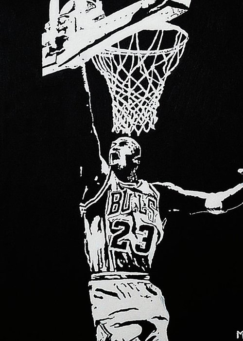 Basketball Greeting Card featuring the painting Finisher by Matthew Formeller