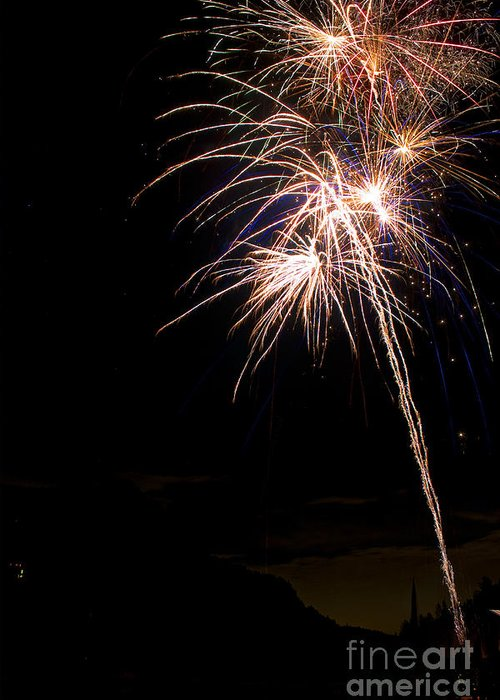 Fireworks Greeting Card featuring the photograph Fireworks  by James BO Insogna