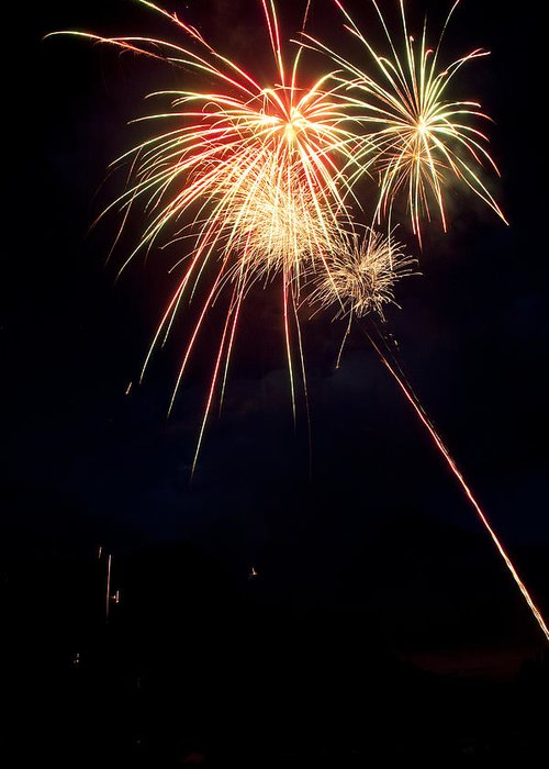 Fireworks Greeting Card featuring the photograph Fireworks 49 by James BO Insogna