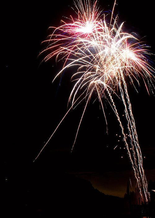 Fireworks Greeting Card featuring the photograph Fireworks 70 by James BO Insogna